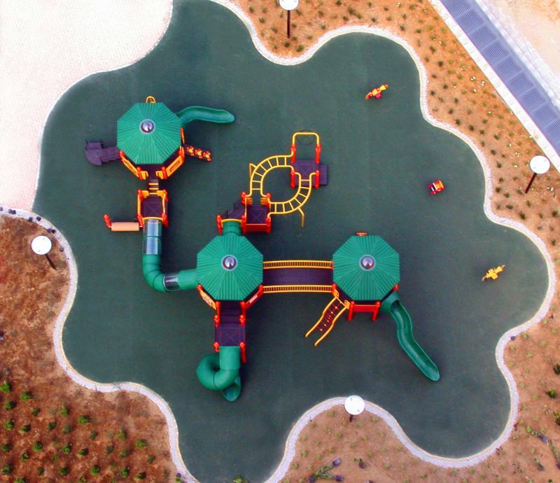 panoramica dell'area gioco inclusiva