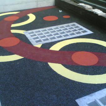 rivestimento in pavimentazione antitrauma